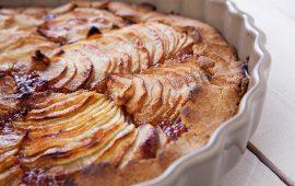 Torta di mele con frolla alle castagne
