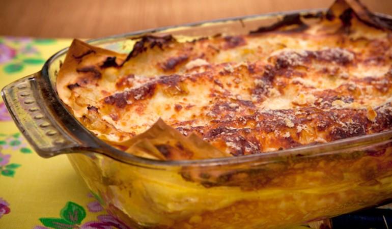 lasagne porri e taleggio