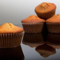 Muffins al caffe' con cuore morbido di cioccolato fondente