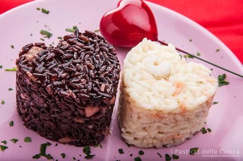 Bis di cuori di riso