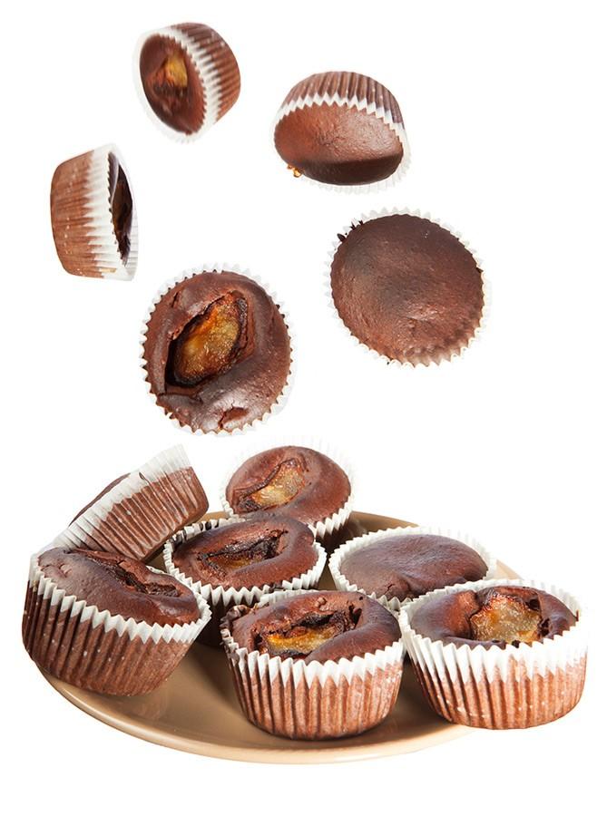 muffin-con-cioccolato-e-pere-senza-zucchero-uova-lievito