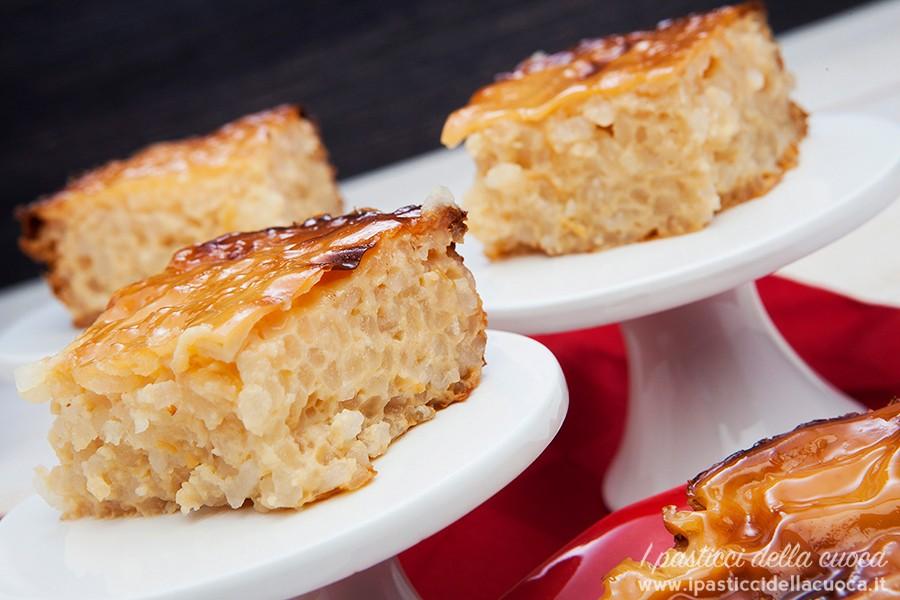 Cubetti di torta di riso