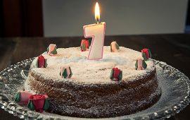Torta di compleanno 7 anni