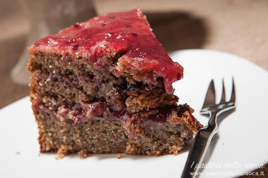 Fetta di torta al grano saraceno