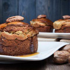 3 piccole torte di ricotta miele e noci pecan