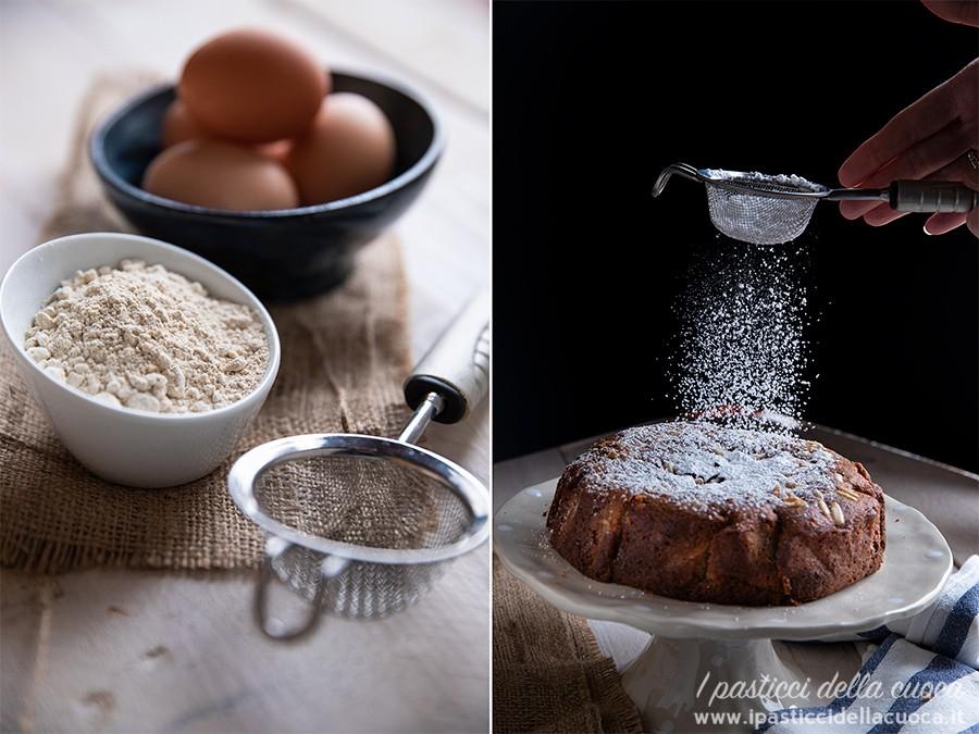 Torta-di-castagne_Spargimento-zucchero-a-velo