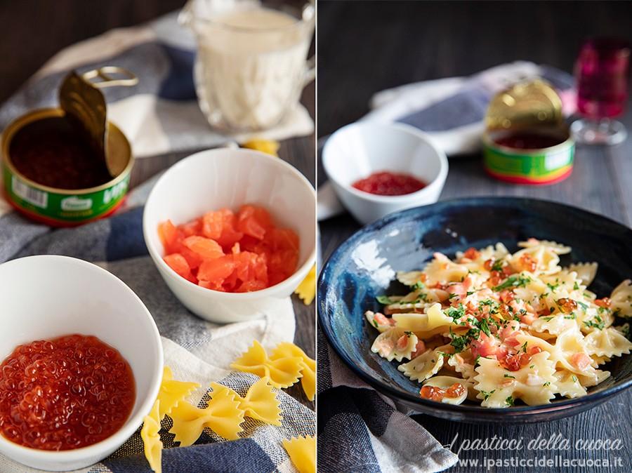 Farfalle-con-salmone-e-caviale_con-ingredienti